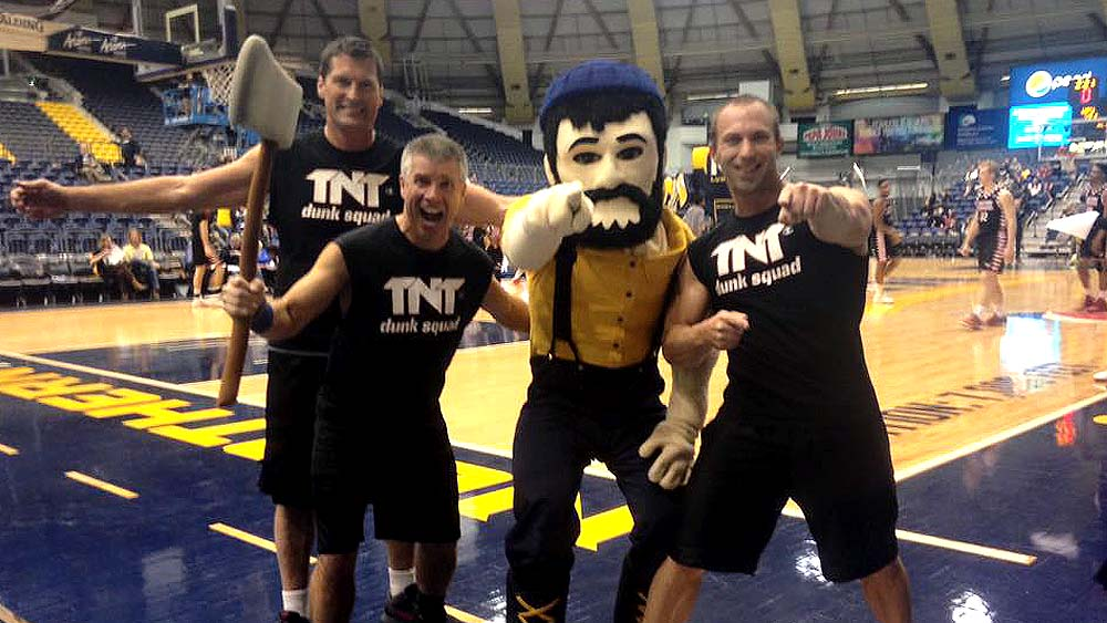 TNT Dunk Squad Challenge the Lumberjacks