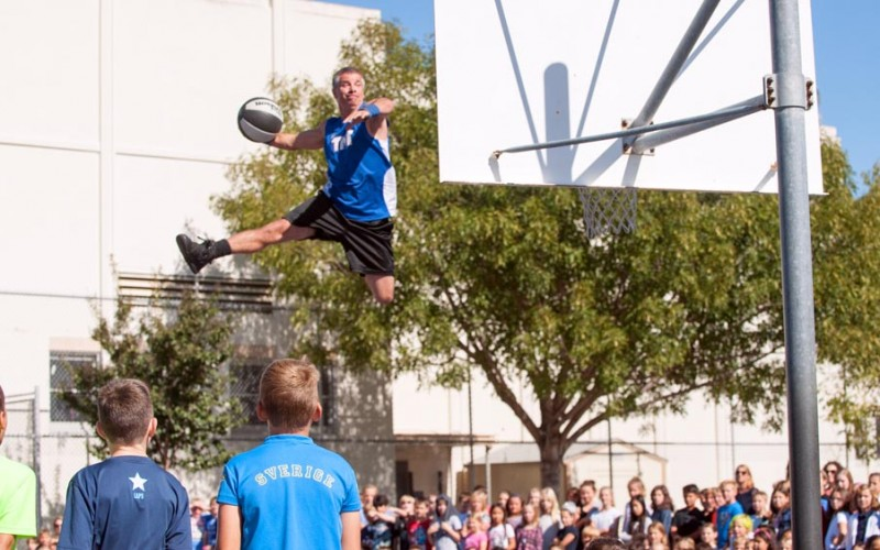 Slam Dunk at a Pep Rally