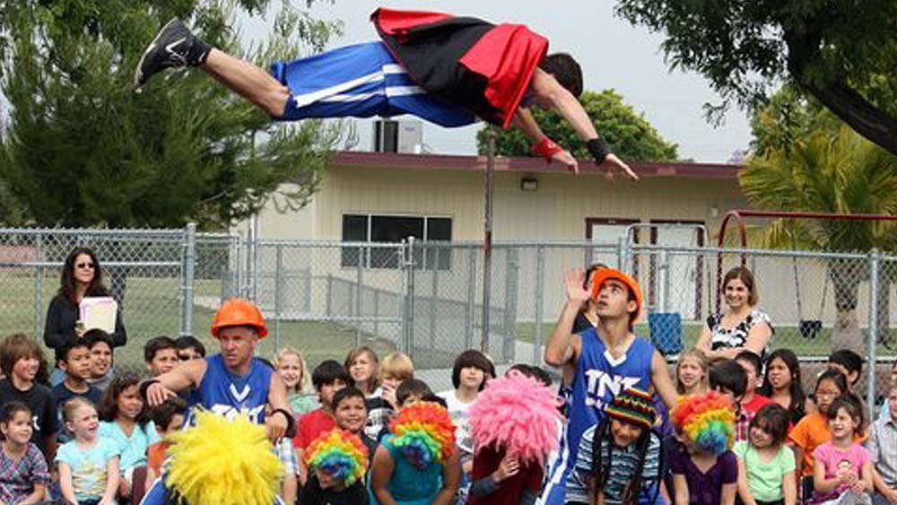 TNT Dunk School Pep Rally with Superman